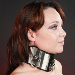 BNMW - High leather collar with stainless steel