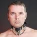 BNMW - Hohe Leder Halsband mit Edelstahl