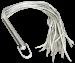W100-36 - Langes Leder-Peitsche mit Edelstahl Griff