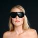 BLB1 - Leder ausgekleidet Augenbinde