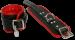 BHR1 - Luxe gevoerde Polsboei zwart/rood 7cm breed