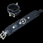 BHW2 - Luxe gevoerde Polsboei - zwart 5cm breed