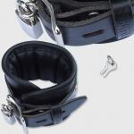 BHB1 - Luxe gevoerde Polsboei - zwart 7cm breed