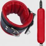 BFR1 - Luxe gevoerde enkelboei - Zwart/Rood 7cm breed