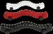 THW1 - Weiß Leder Hodenfessel