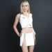 LSW1 - White Leather Skirt