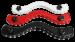 THB1 - weiß Leder Hodenfessel